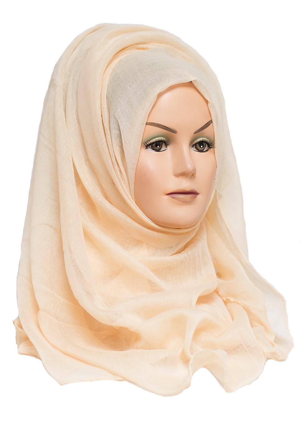 plain cream maxi hijab