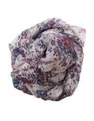 purple and white floral hijab