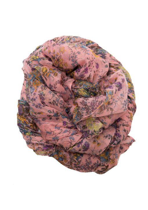 pink floral maxi hijab
