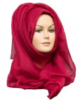ruby red plain maxi hijab