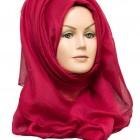 ruby red plain maxi hijab