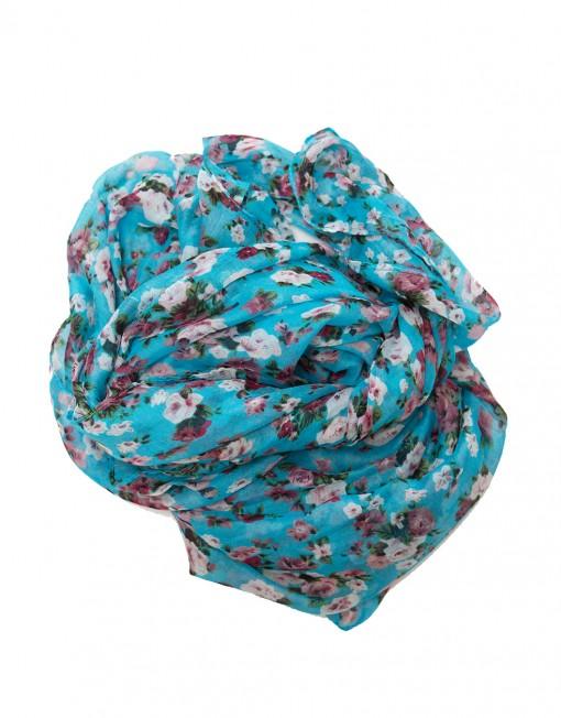 blue floral maxi hijab