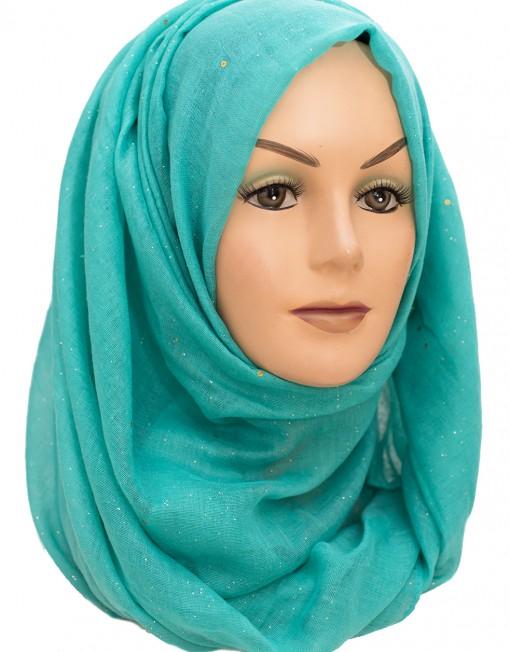 aqua green sparkle maxi hijab