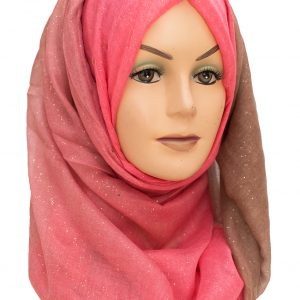 Brown and Pink Sparkle Hijab
