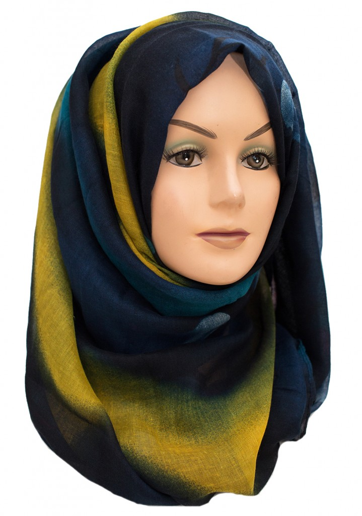 Blue and Yellow Maxi Hijab