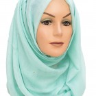 Minty Green Sparkle Maxi Hijab