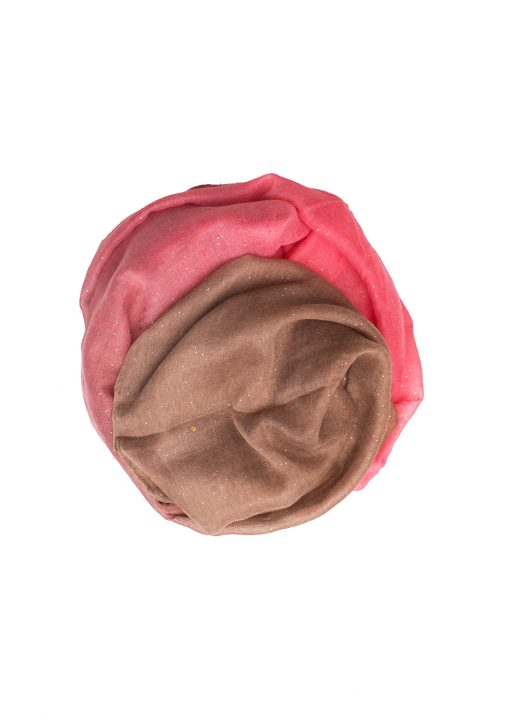 Chocolate and Pink Sparkle Hijab