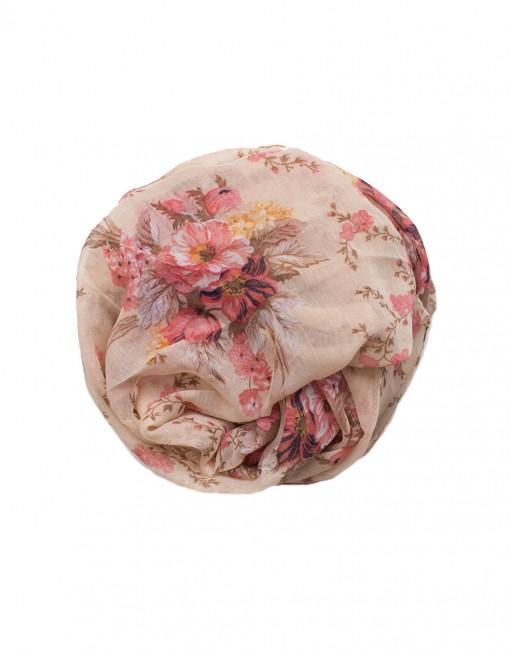 Rose Pink Floral maxi hijab