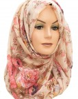 Pink and Rose Floral hijab maxi