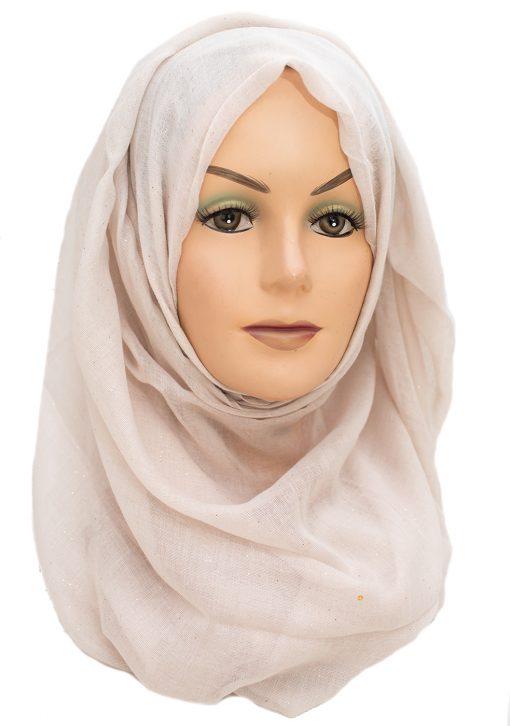 Cream and Vanilla maxi hijab