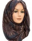 Brown and Blue paisley maxi hijabs