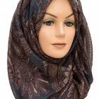 Brown and Blue paisley maxi hijabs
