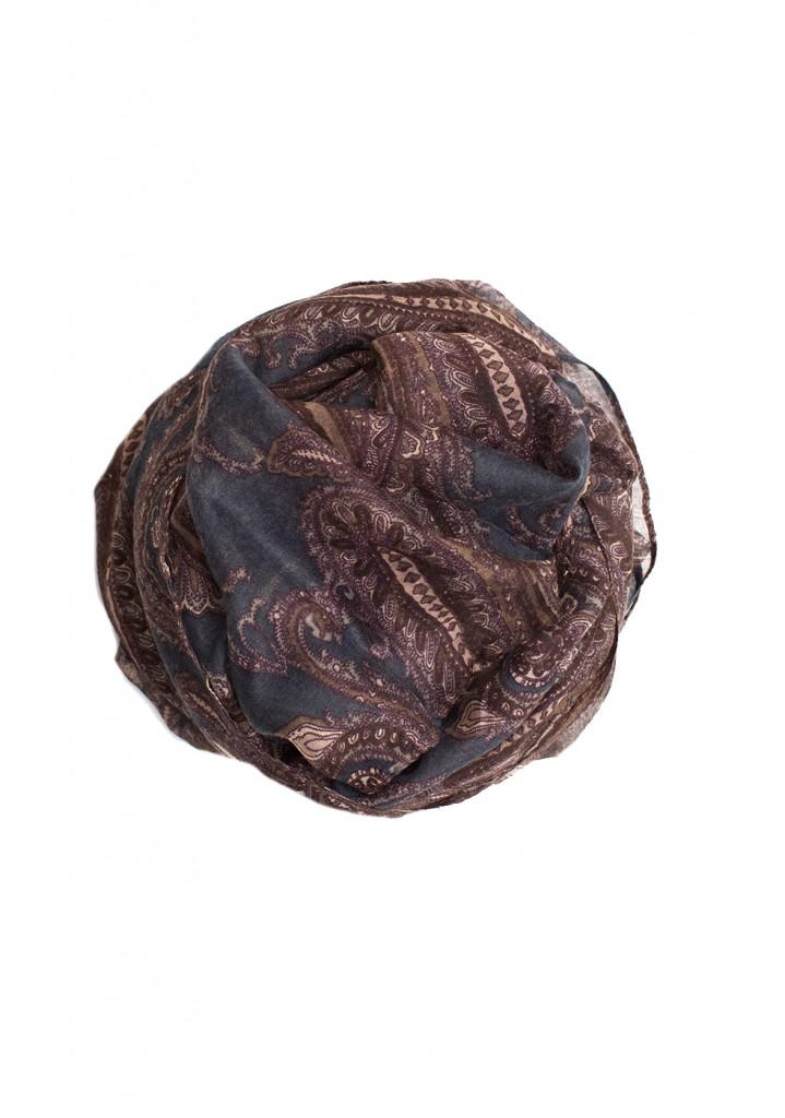 Brown and Blue paisley maxi hijab