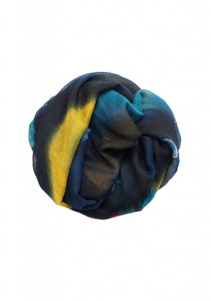 Gold and Blue Maxi Hijab