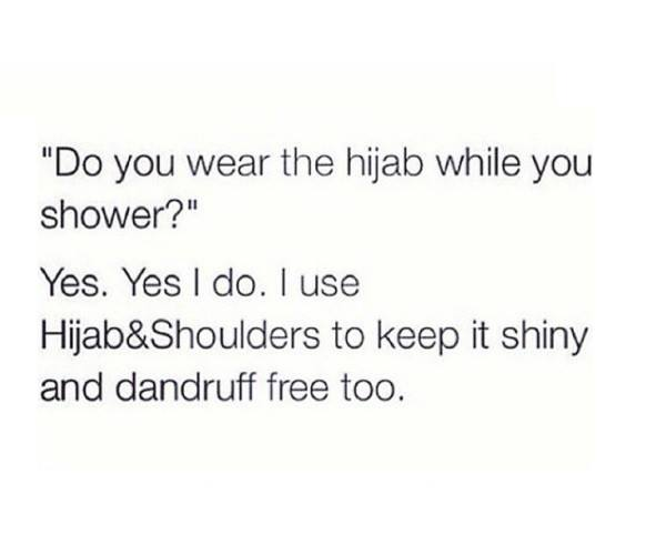 shower with your hijab
