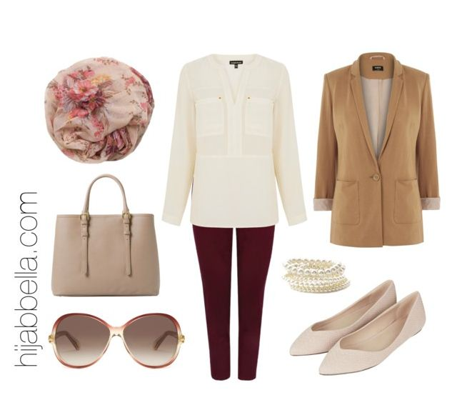 casual floral print hijab outfit set