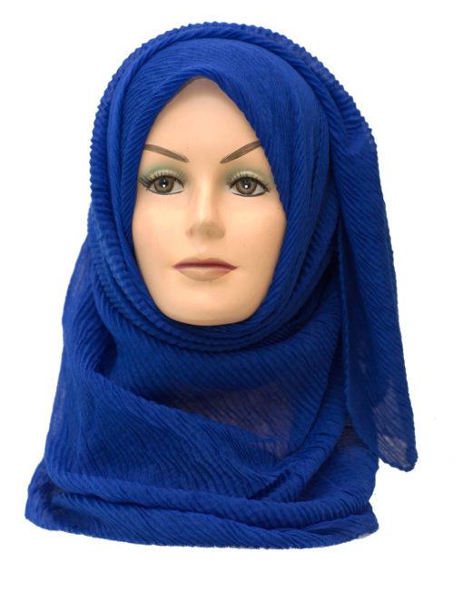 royal blue maxi crinkle hijab