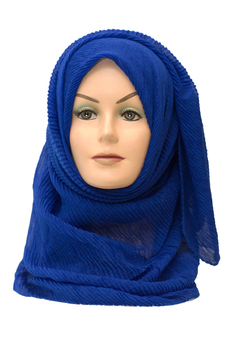 royal blue maxi crinkle hijab