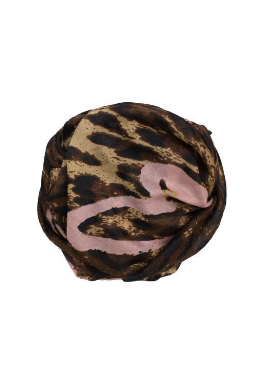 baby pink leopard printed hijab