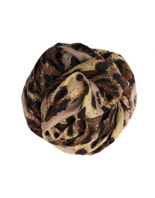 leopard print maxi hijab
