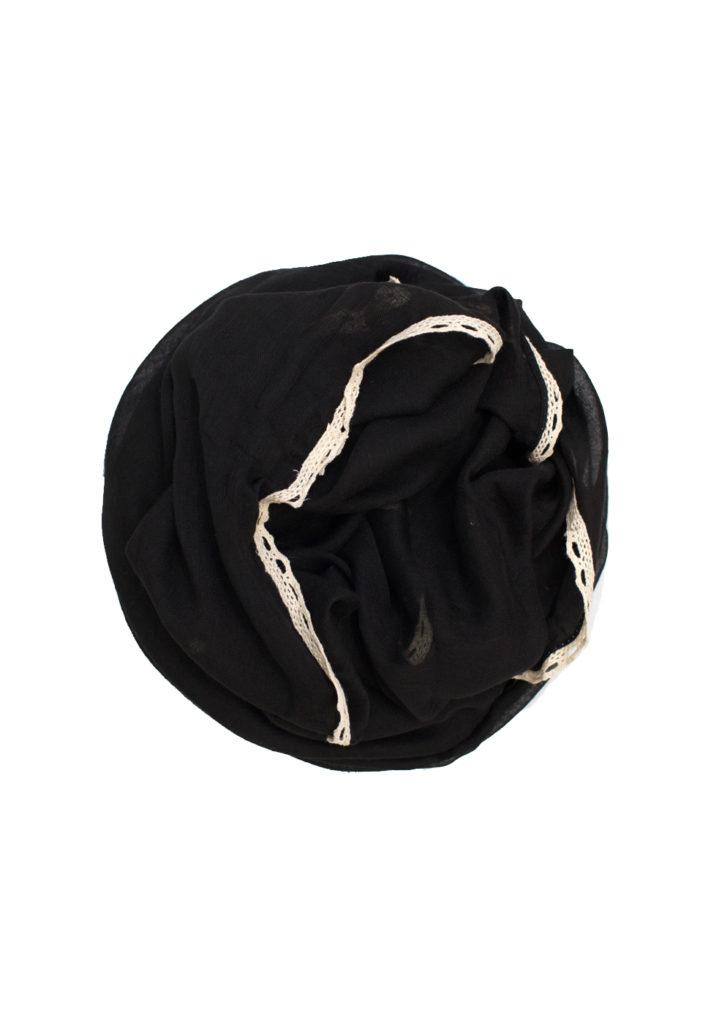 plain black maxi hijab