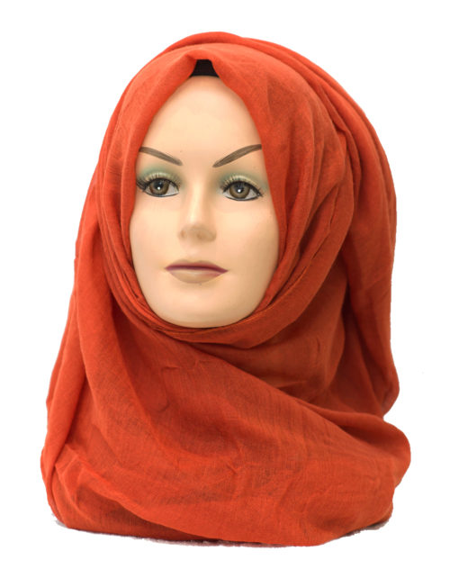 orange plain maxi hijab