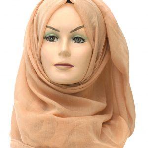 beige plain maxi hijab