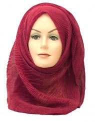 red crinkle maxi hijab