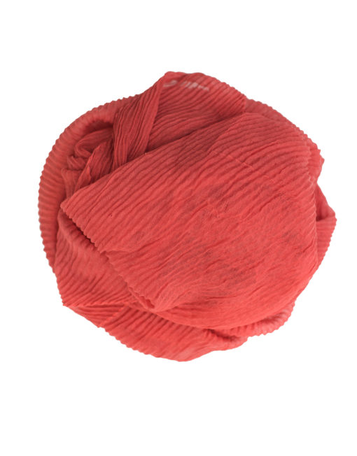 coral peach crinkle hijab
