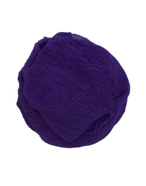dark purple crinkle hijab