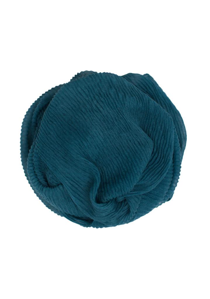 blue green maxi crinkle hijab