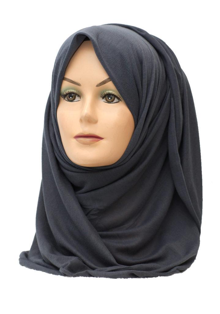 dark grey jersey hijab
