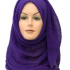 purple crinkle maxi hijab