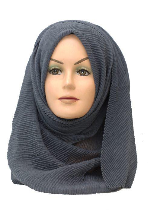 grey crinkle maxi hijab
