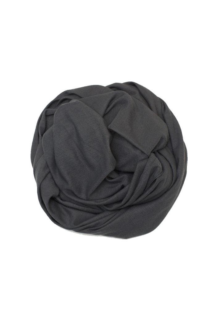 dark grey stretch jersey hijab