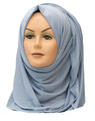 light blue grey jersey hijab
