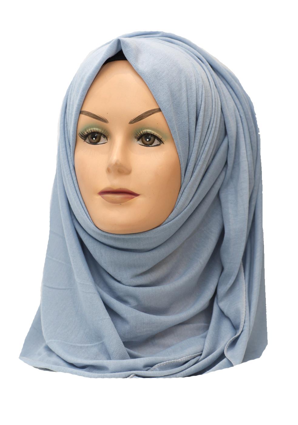 light blue grey jersey hijab