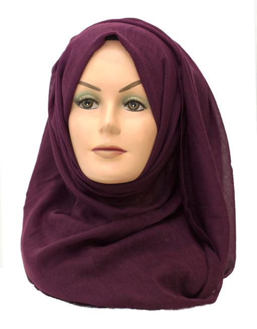 wine purple maxi hijab