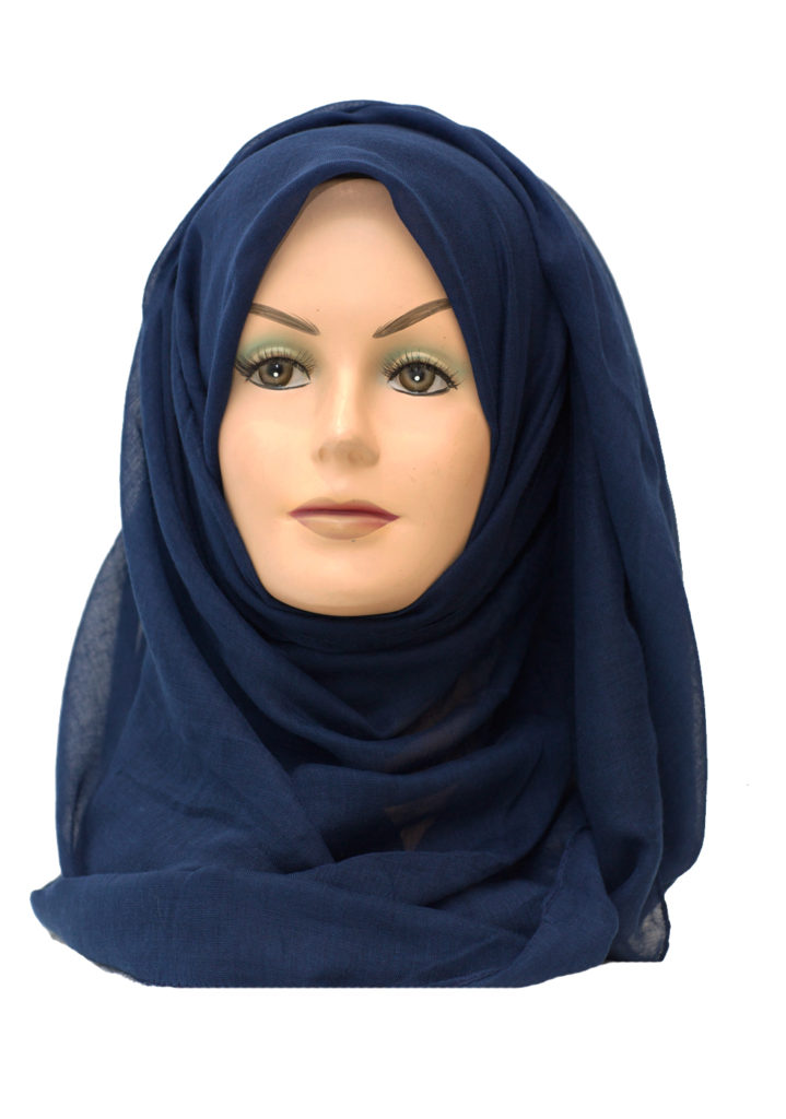 plain navy blue maxi hijab