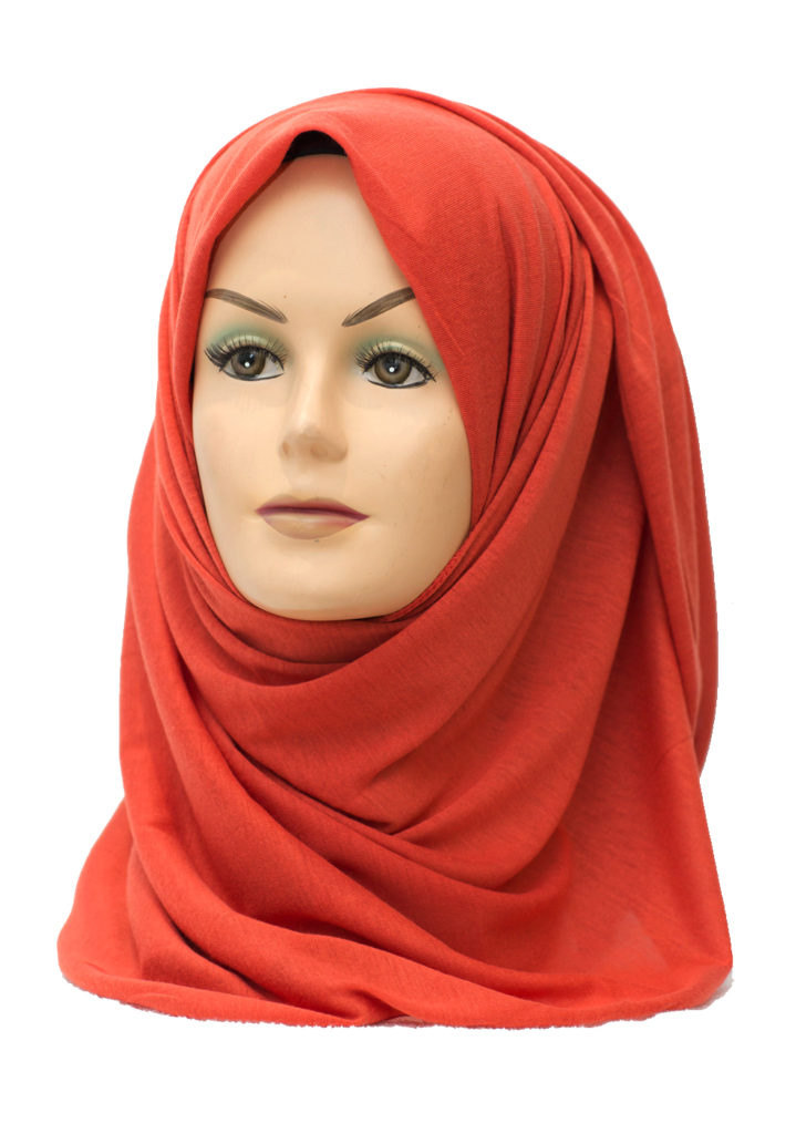 orange jersey stretch hijab