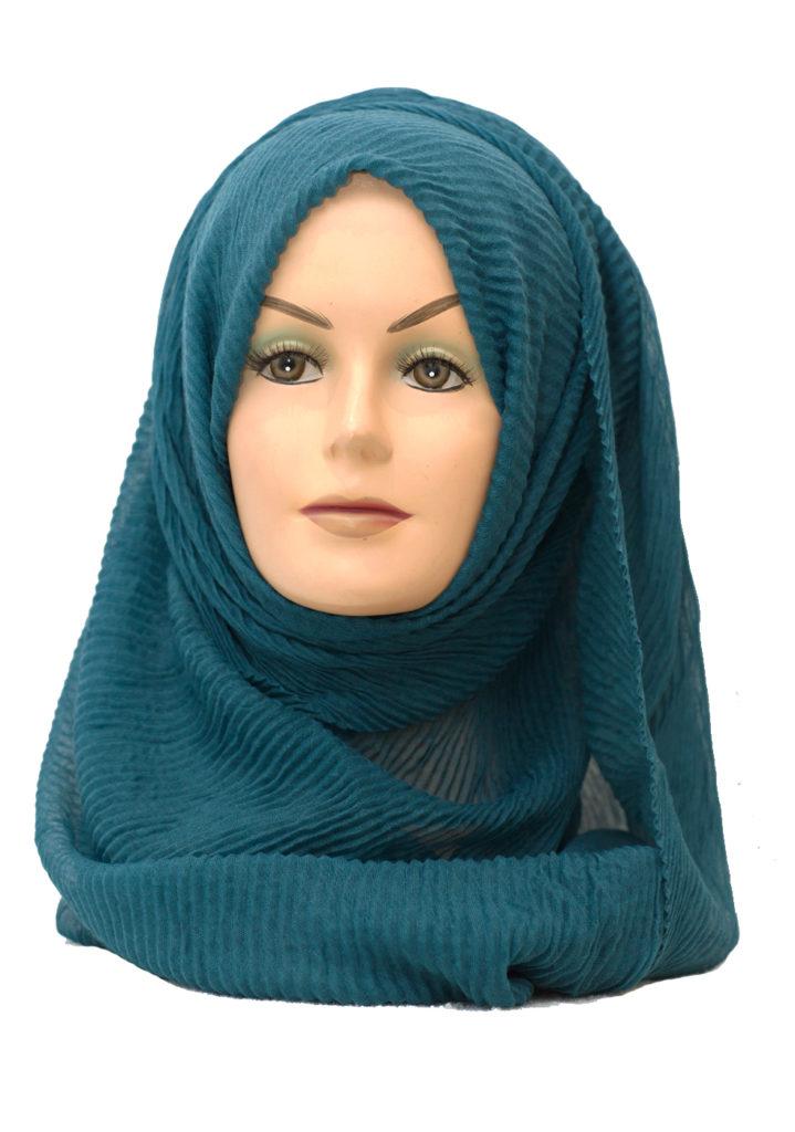peacock blue maxi hijab