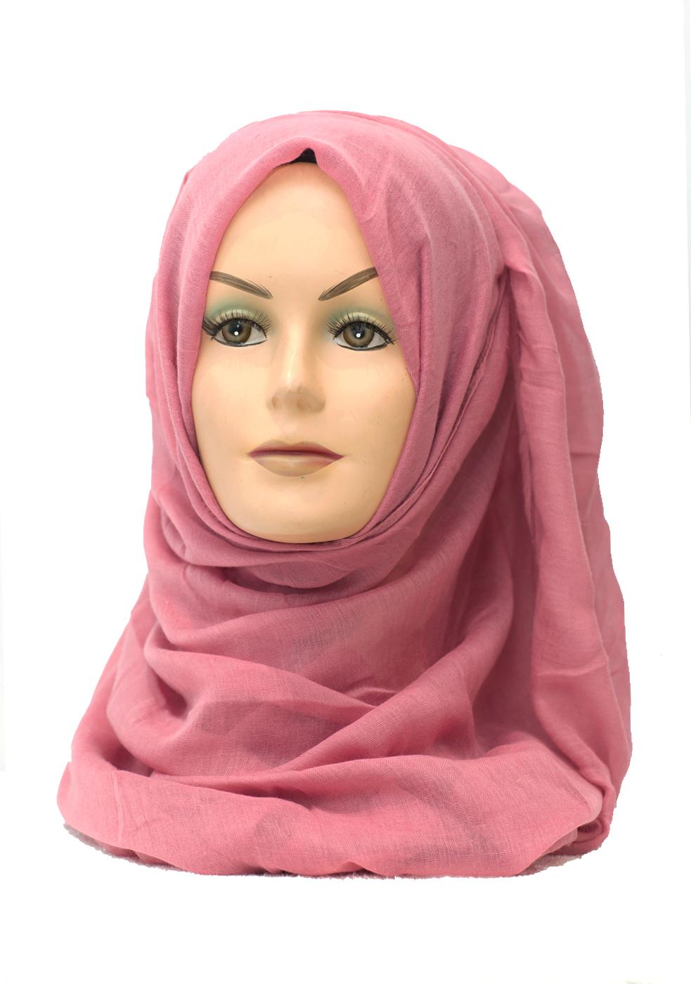 baby pink plain maxi hijab