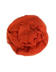 dark orange plain hijab maxi