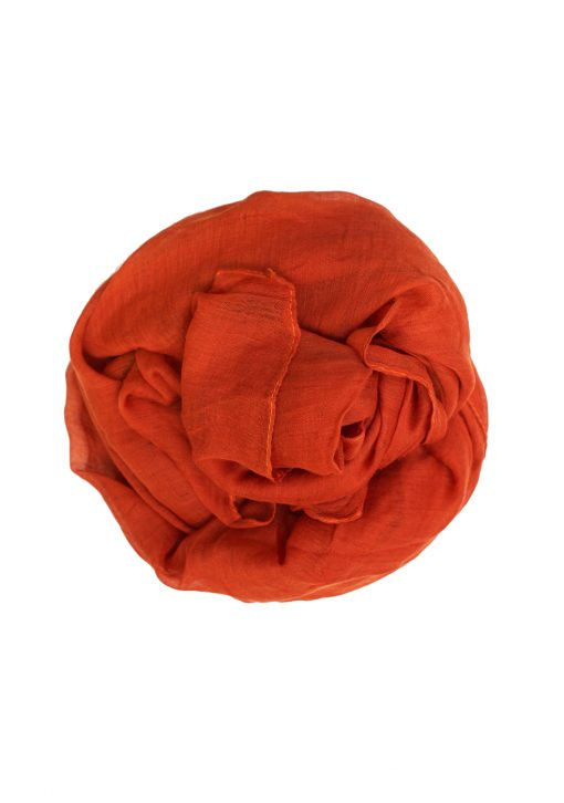 dark orange plain hijab maxi
