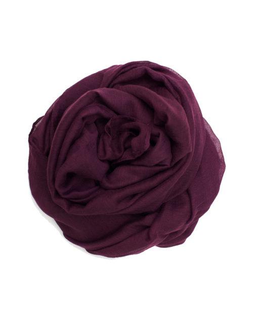 dark purple plain maxi hijab
