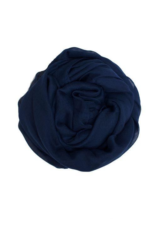 blue maxi hijab plain