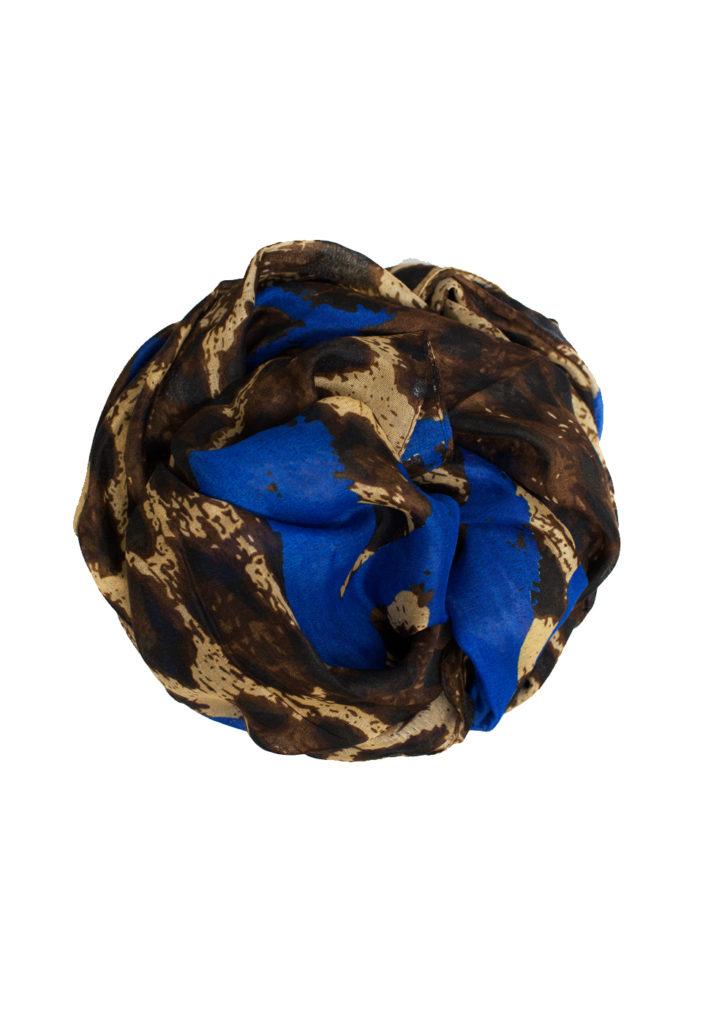 blue printed maxi hijab