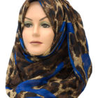 royal blue leopard print hijab