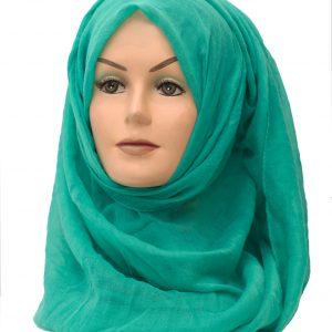 green plain maxi hijab